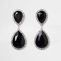 Pendants d'oreilles à pierres noires