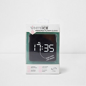 Rose gold White Ice LED mirrored alarm clock