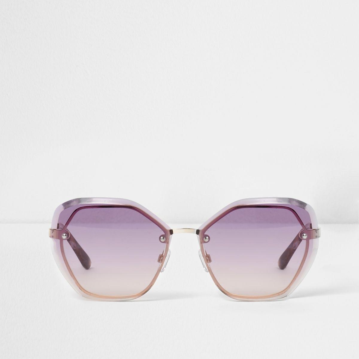 Lilac glam hexagon ocean sunglasses