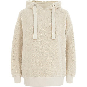 Crème fleece hoodie