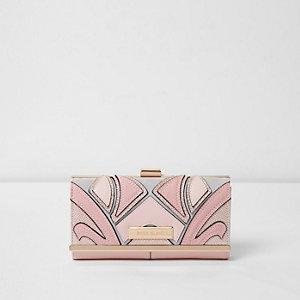 Pink cutabout glitter clip top purse