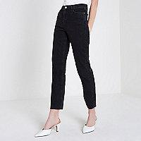 Bella - Zwarte jeans met rechte pijpen
