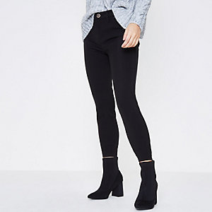 Petite black Molly skinny trousers
