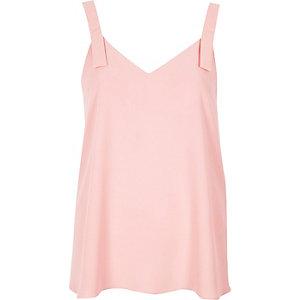 Pink tab strap vest