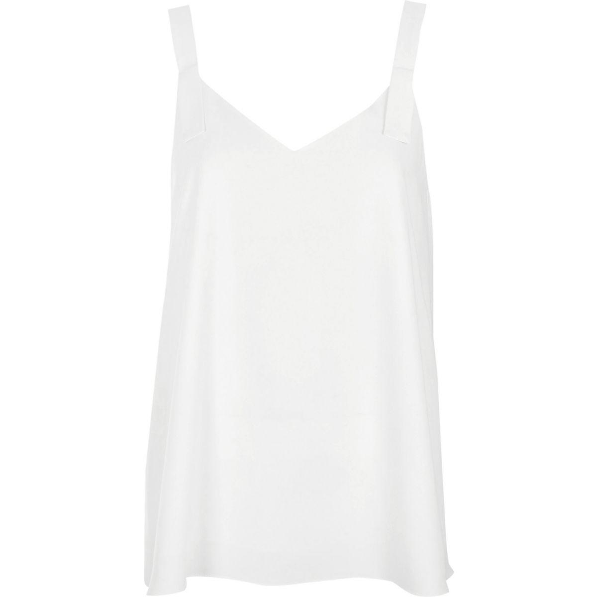 Light cream tab strap vest