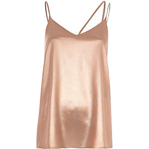 Camisole in Pink-Metallic