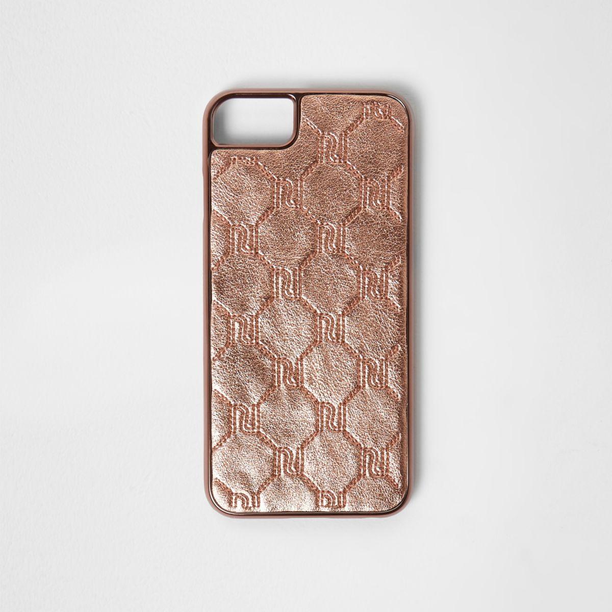 Rose gold RI monogram phone case