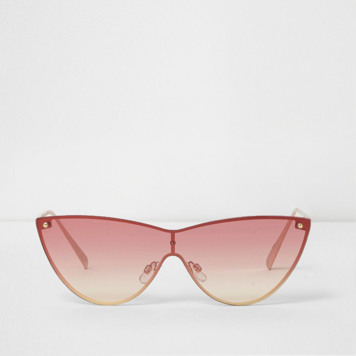 Gold ombre over the lens cat eye sunglasses
