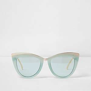 Mintgrüne Cateye-Sonnenbrille