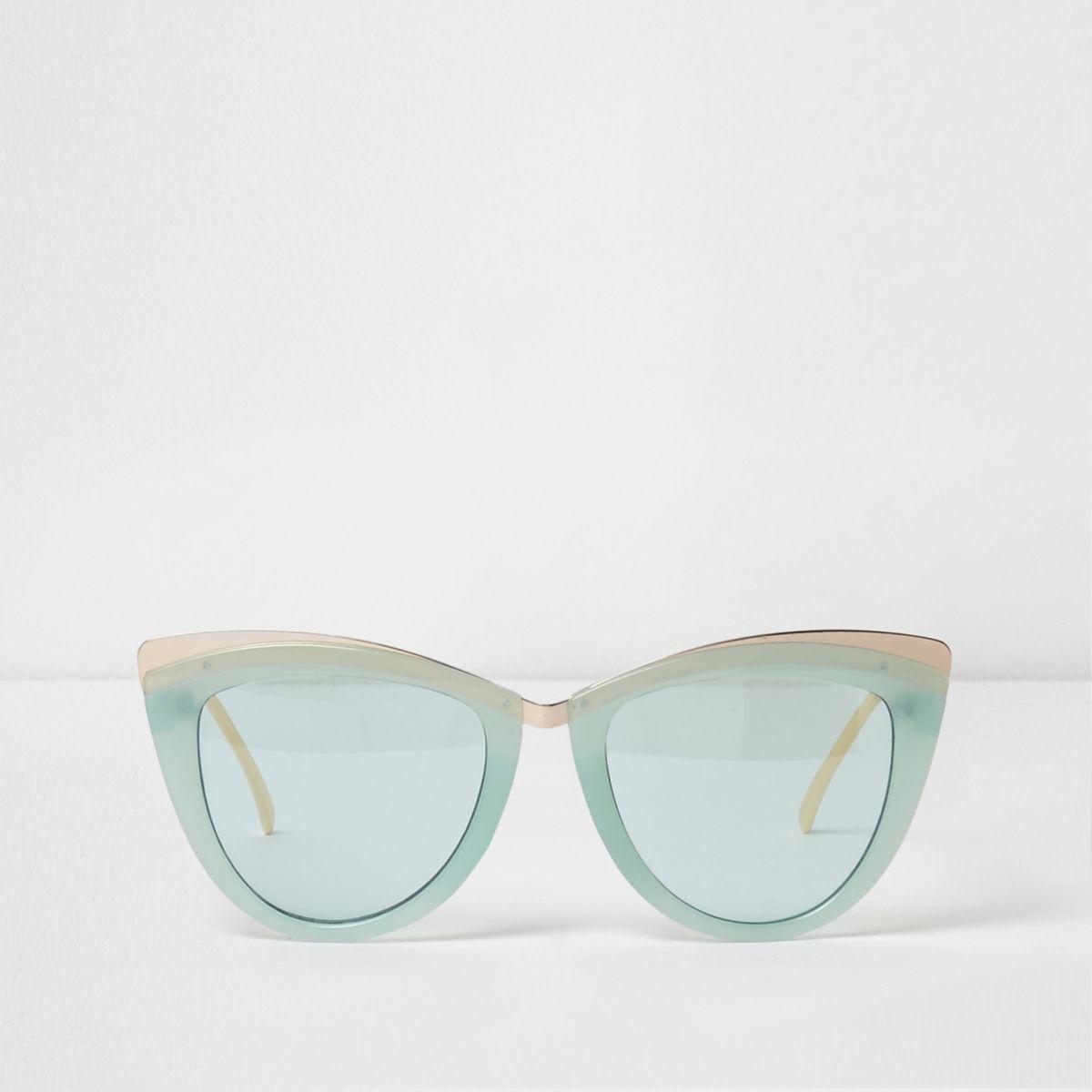 Mint green cat eye sunglasses