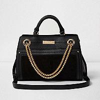 Black chain front bowler bag