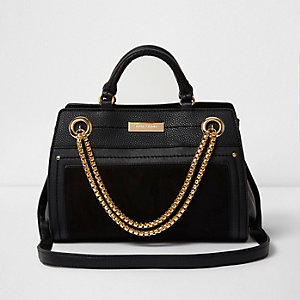 Black chain front bowler bag