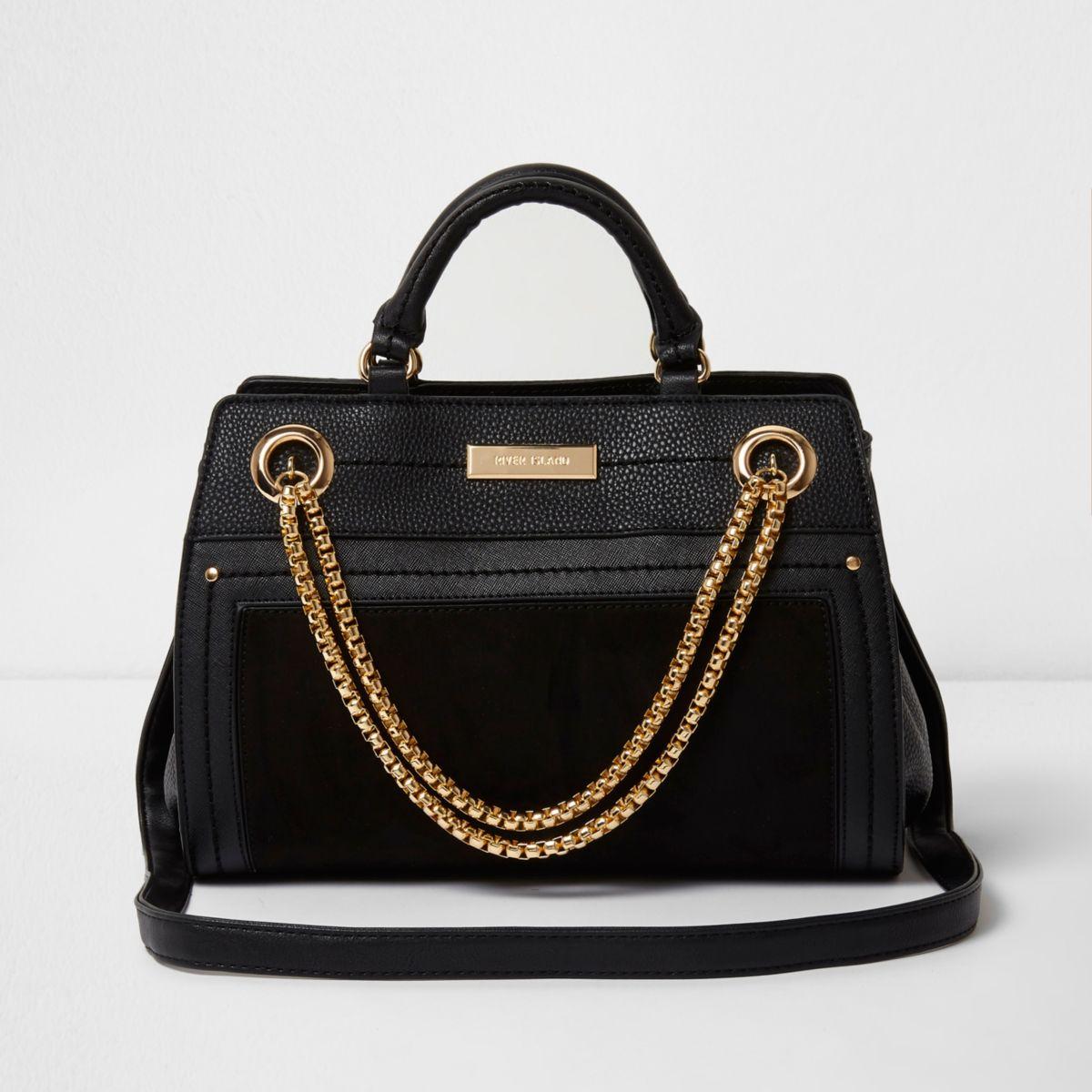 Schwarze Bowler Tasche