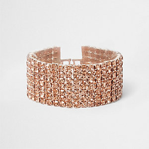 Rose gold tone cup chain bracelet