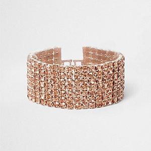 Roségoudkleurige armband met schakels