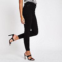 Harper - Zwarte skinny jeans met hoge taille