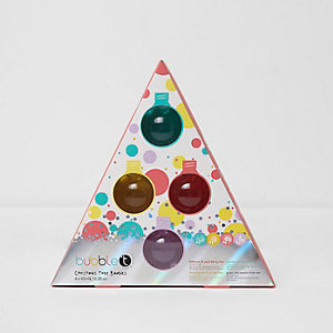 Bubble Tea Christmas tree bauble shower gel