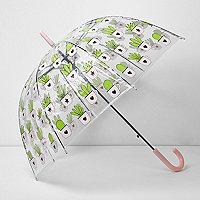 Parapluie à imprimé cactus en forme de dôme