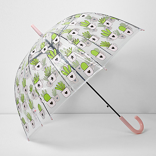Cactus print dome umbrella