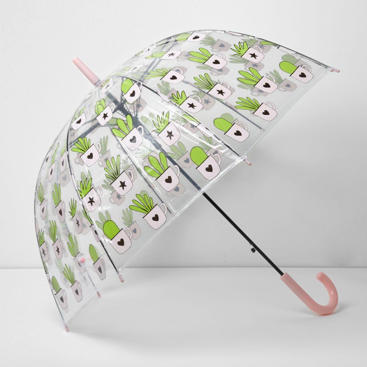 Cactus print dome umbrella