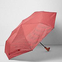 Rode eendenparaplu met stippen