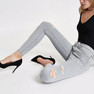 Molly – Graue Skinny Jeggings