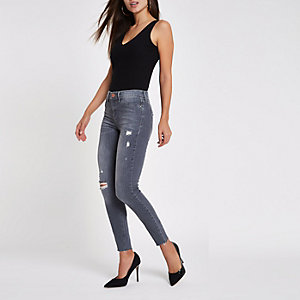 Molly – Skinny Jeggings im Used-Look