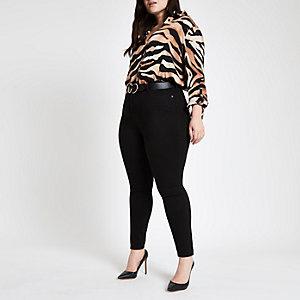 RI Plus - Harper - Zwarte jeans met hoge taille