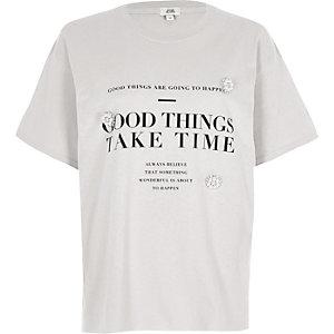 "Graues T-Shirt ""Good Things"""