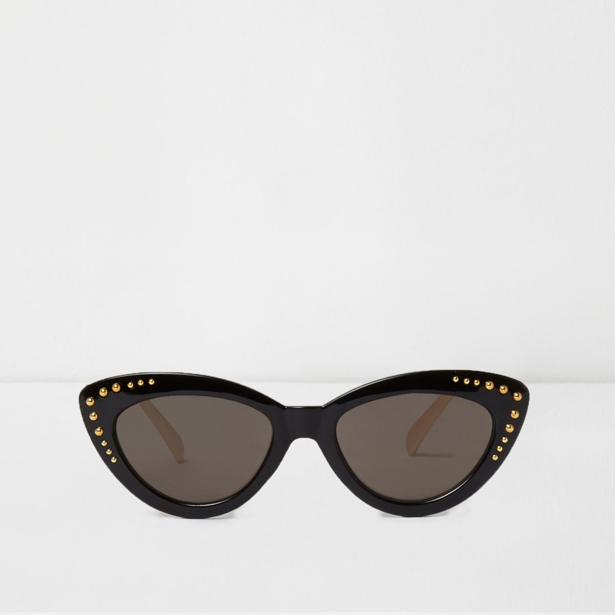 Black studded cat eye sunglasses