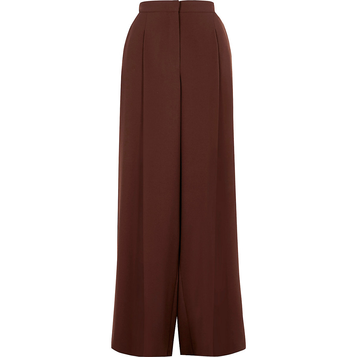 Brown wide leg trousers