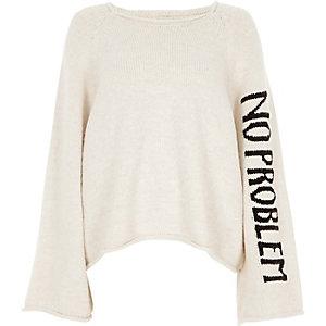"""Pullover """"no problem"""" mit weiten Ärmeln"""