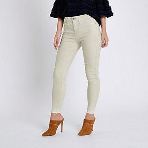 RI Petite - Molly - Crème ripped skinny legging