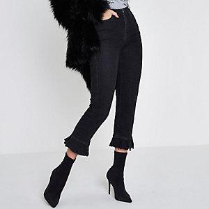 Bella – Jeans mit geradem Bein und Rüschensaum