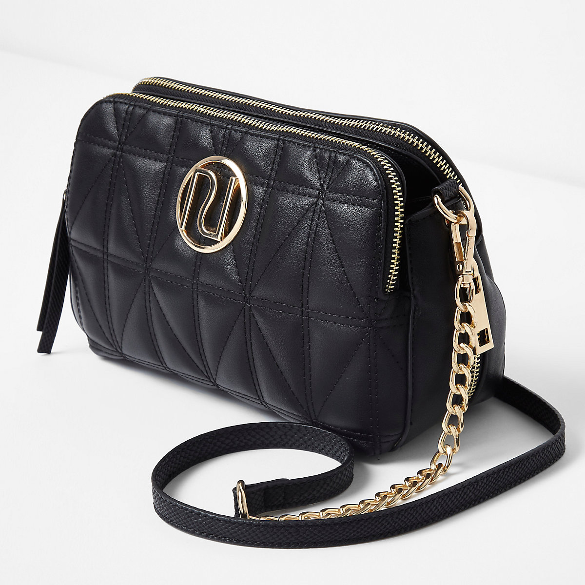 Gold Cquilted Bag River Island