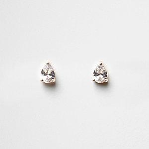 Cubic zirconia diamante stud earrings