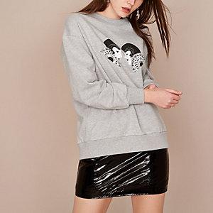 Holly Fulton – Graues, verziertes Sweatshirt