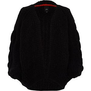 Black chunky cable kit cardigan