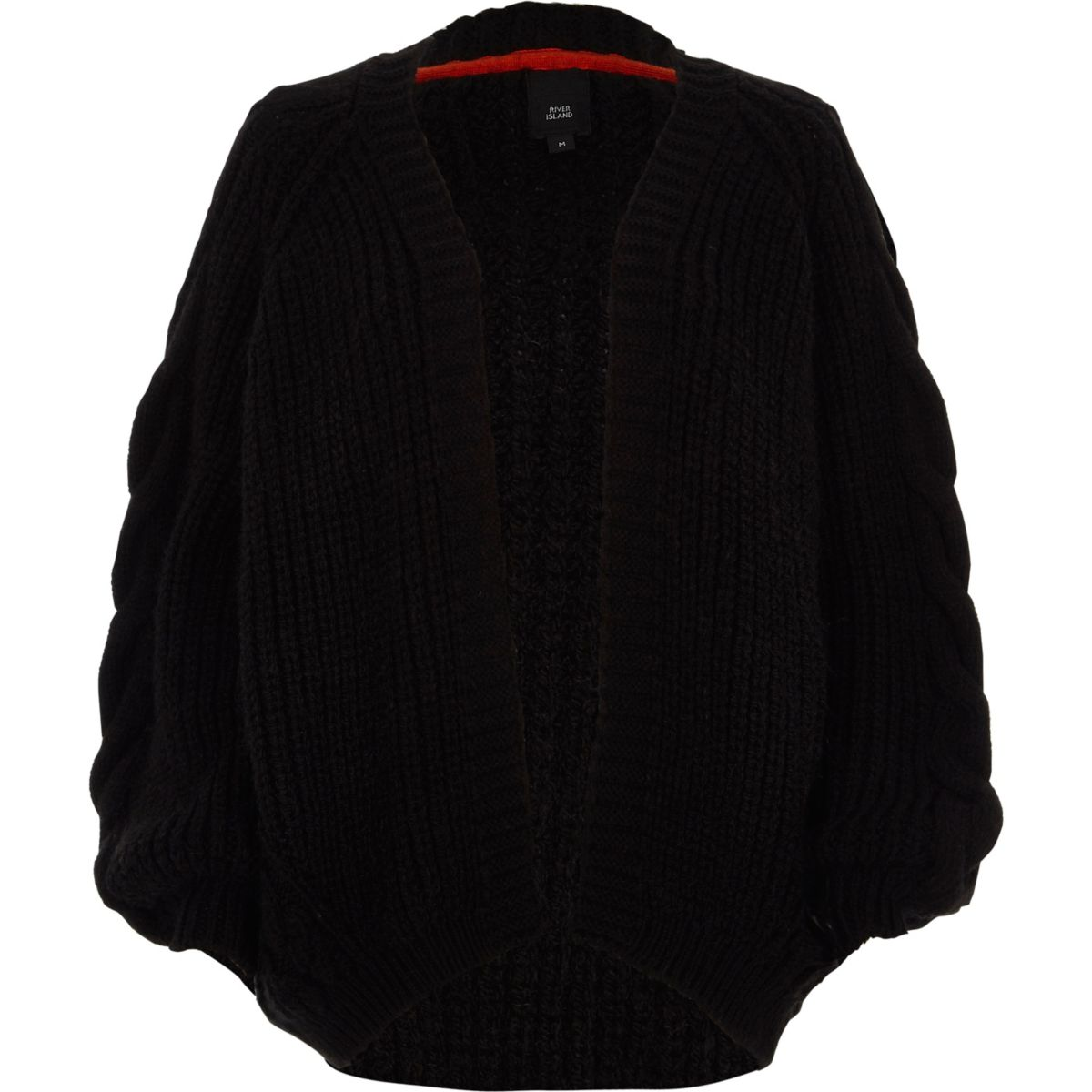 Black chunky cable kit cardigan - Cardigans - Knitwear - women