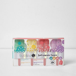 Bubble T bath popsicle fizzers