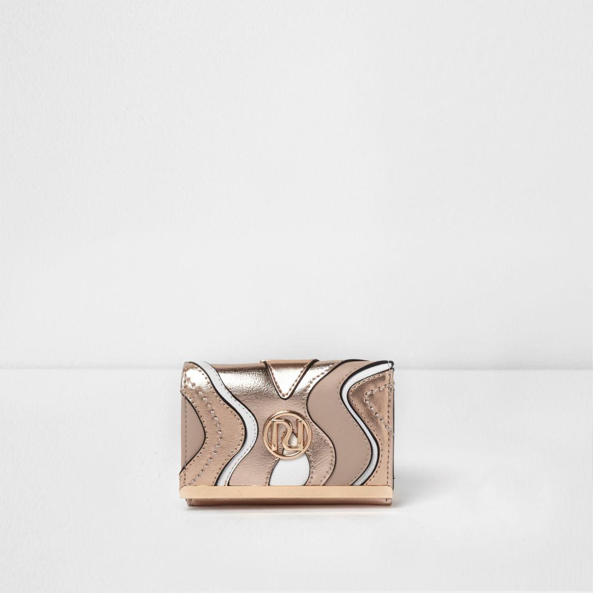 Rose gold metallic swirl cutabout mini purse