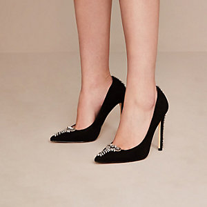 Black Holly Fulton embellished court shoes