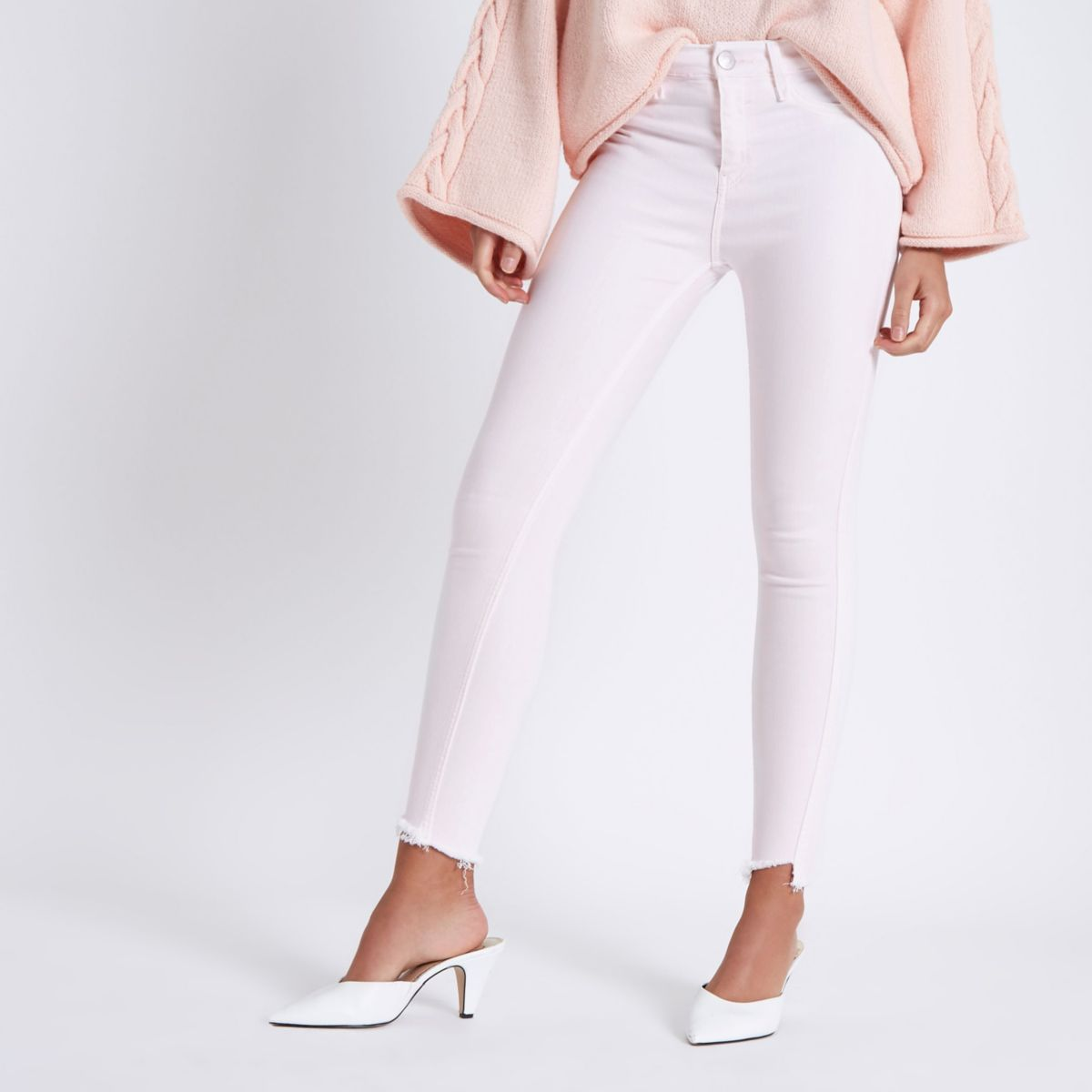 Light pink wash Amelie super skinny jeans