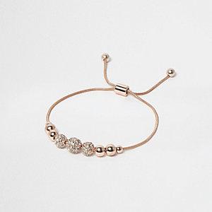Bracelet en filigrane orné or rose