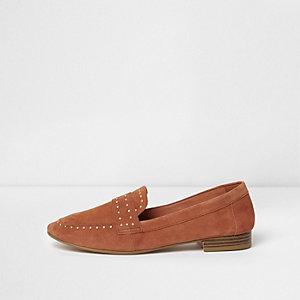 Loafers in Orange aus Wildleder