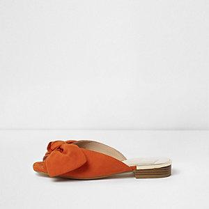 Orange Mules mit Schleife