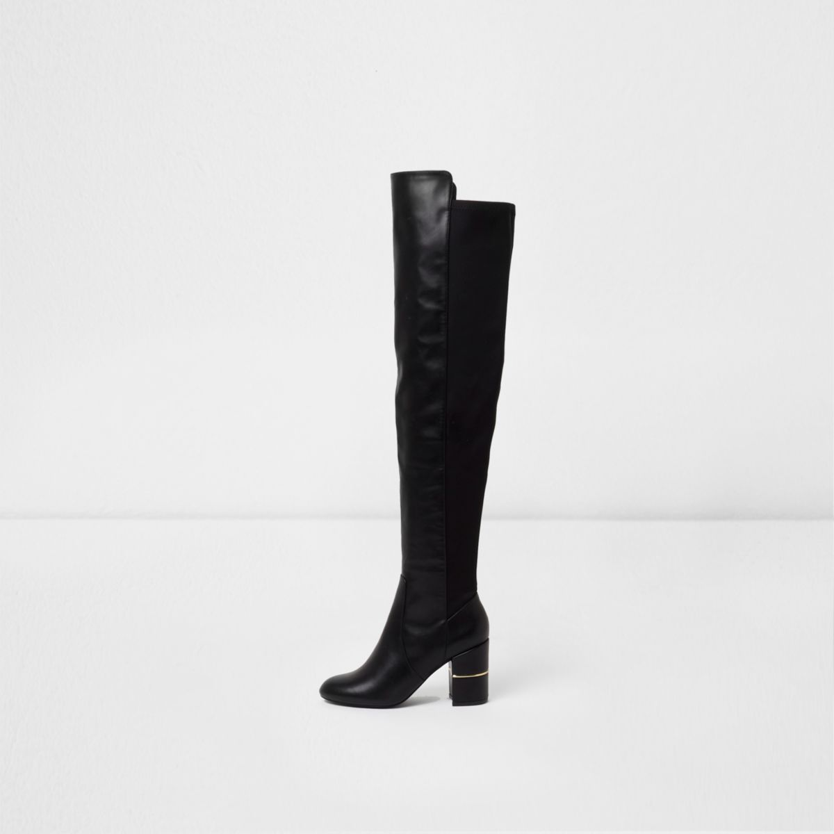River Island Womens over the knee block heel boots 9Dcq9I
