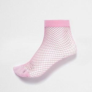 Pinke Fischnetzsocken