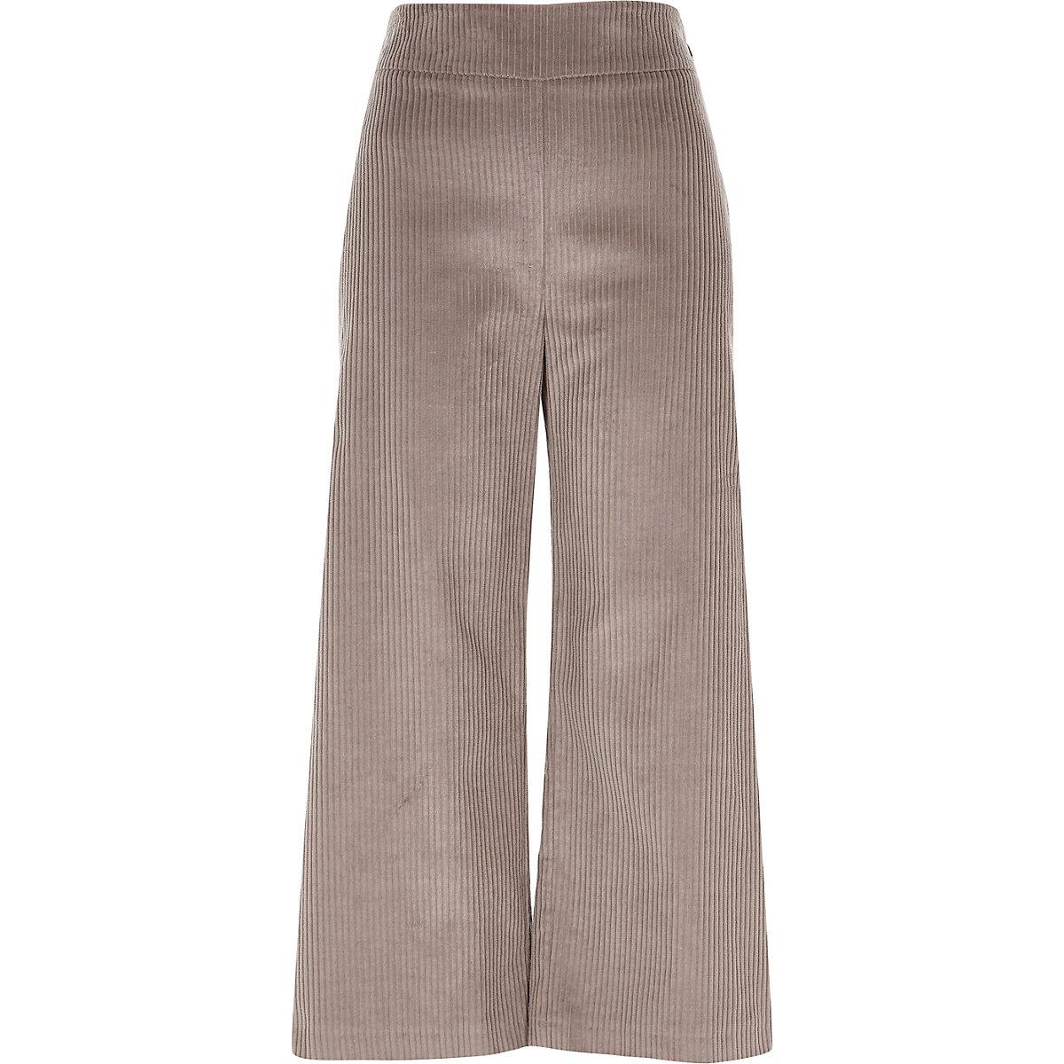 Beige corduroy culottes