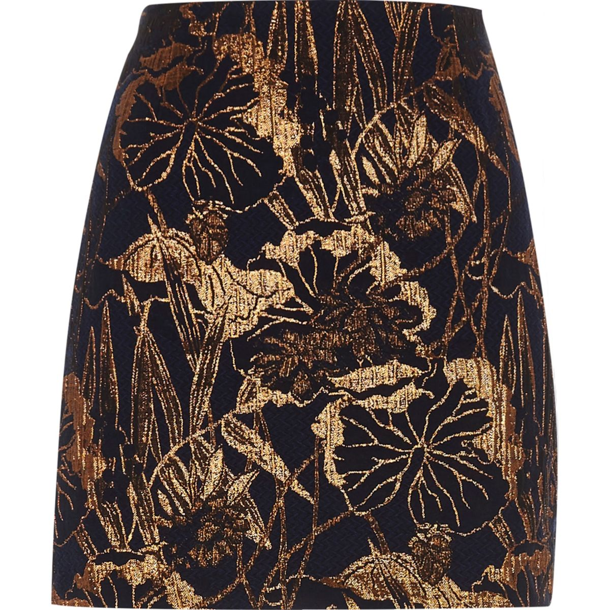 navy floral metallic jacquard mini skirt skirts sale